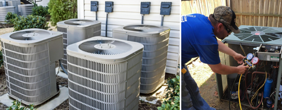 professional HVAC servicing